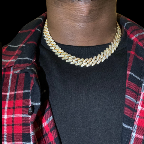 Diamond Prong Cuban Link Choker | Dar Custom Jewelry