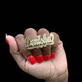 Two Finger Nameplate Ring | DAR Custom Jewelry