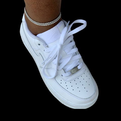 White Gold Tennis Anklet