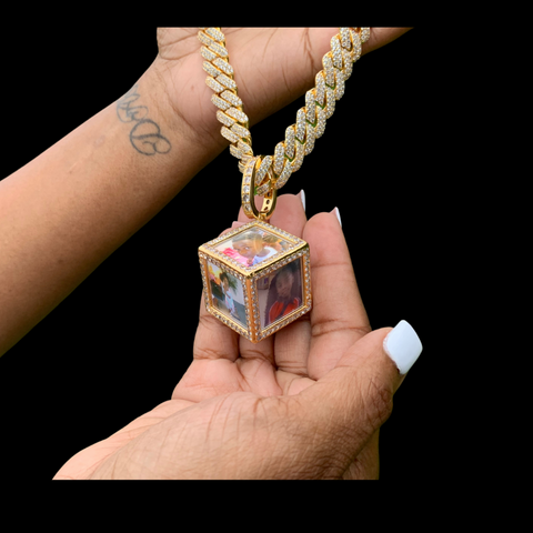 Six Cube Photo Necklace