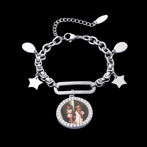 White Gold Picture Bracelet