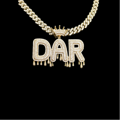 Custom Crown Drip Necklace