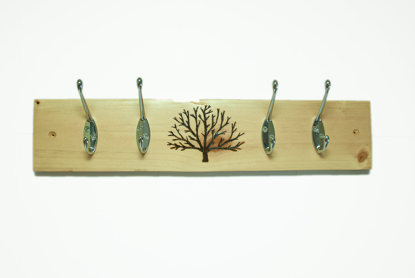 Tree Coat Rack - Light Finish