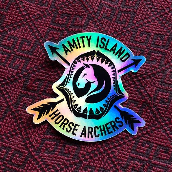 Amity Island Horse Archers holographic sticker