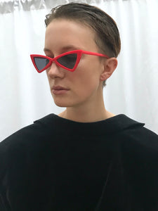 Vintage inspirierte Cat Eye Sonnenbrille in Rot