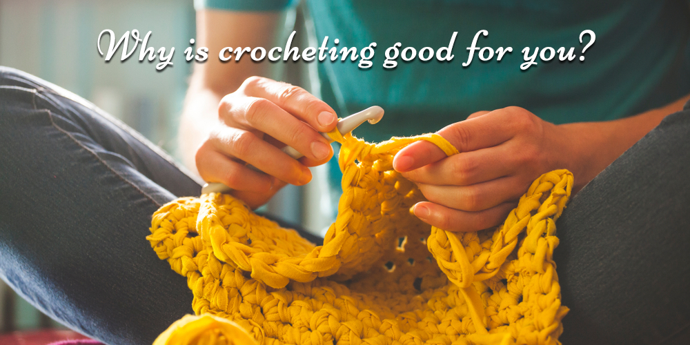 how is crocheting good for stress