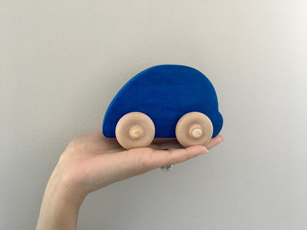 Blue Car Push Toy