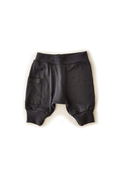 Washed Black Harem Shorts