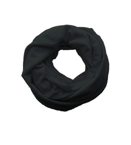 Black Double Loop Infinity Scarf