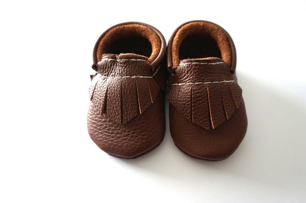 Chocolate Brown Moccasins