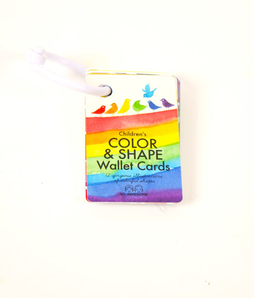 Color & Shape Wallet Cards