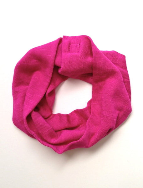 Fuchsia Single Loop Scarf