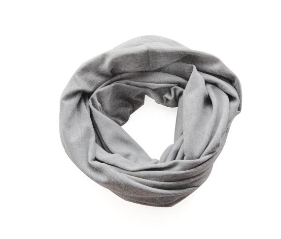 Heather Gray Double Loop Infinity Scarf