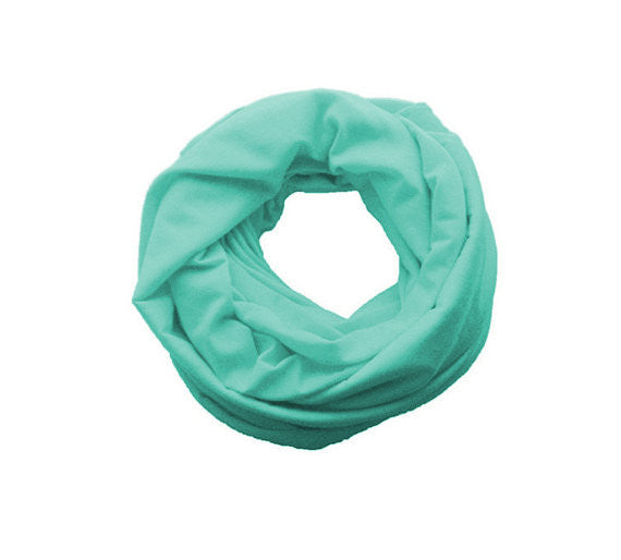 Mint Double Loop Infinity Scarf