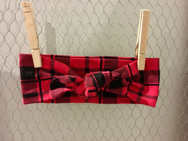 Red + Black Plaid Knotband
