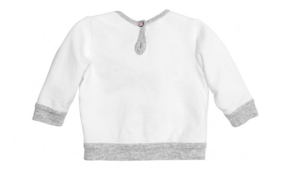 French Toile Sweatshirt - White