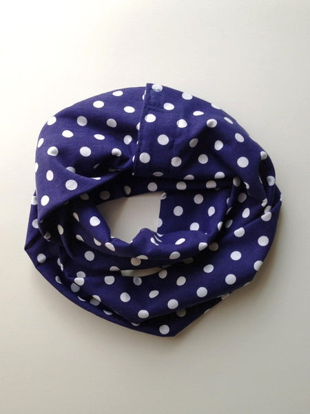 Violet Polka Dot Double Loop Scarf