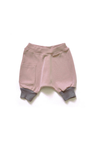 Pink & Grey Harem Shorts