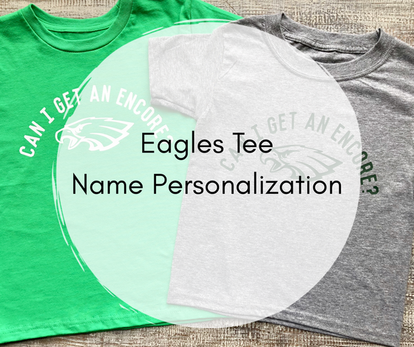 Eagles Tee Name Personalization