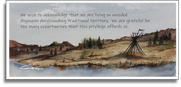 Land Acknowledgement Statement Plaque