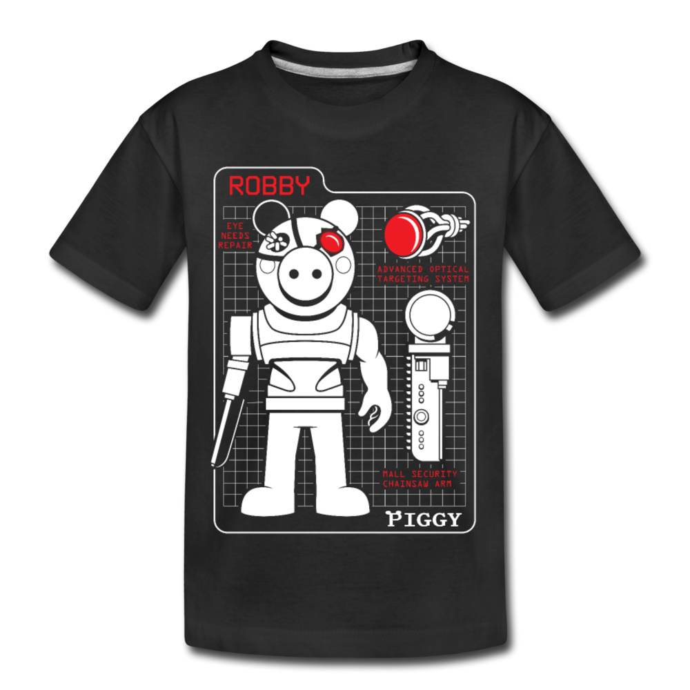 Piggy Blueprint T-Shirt - black