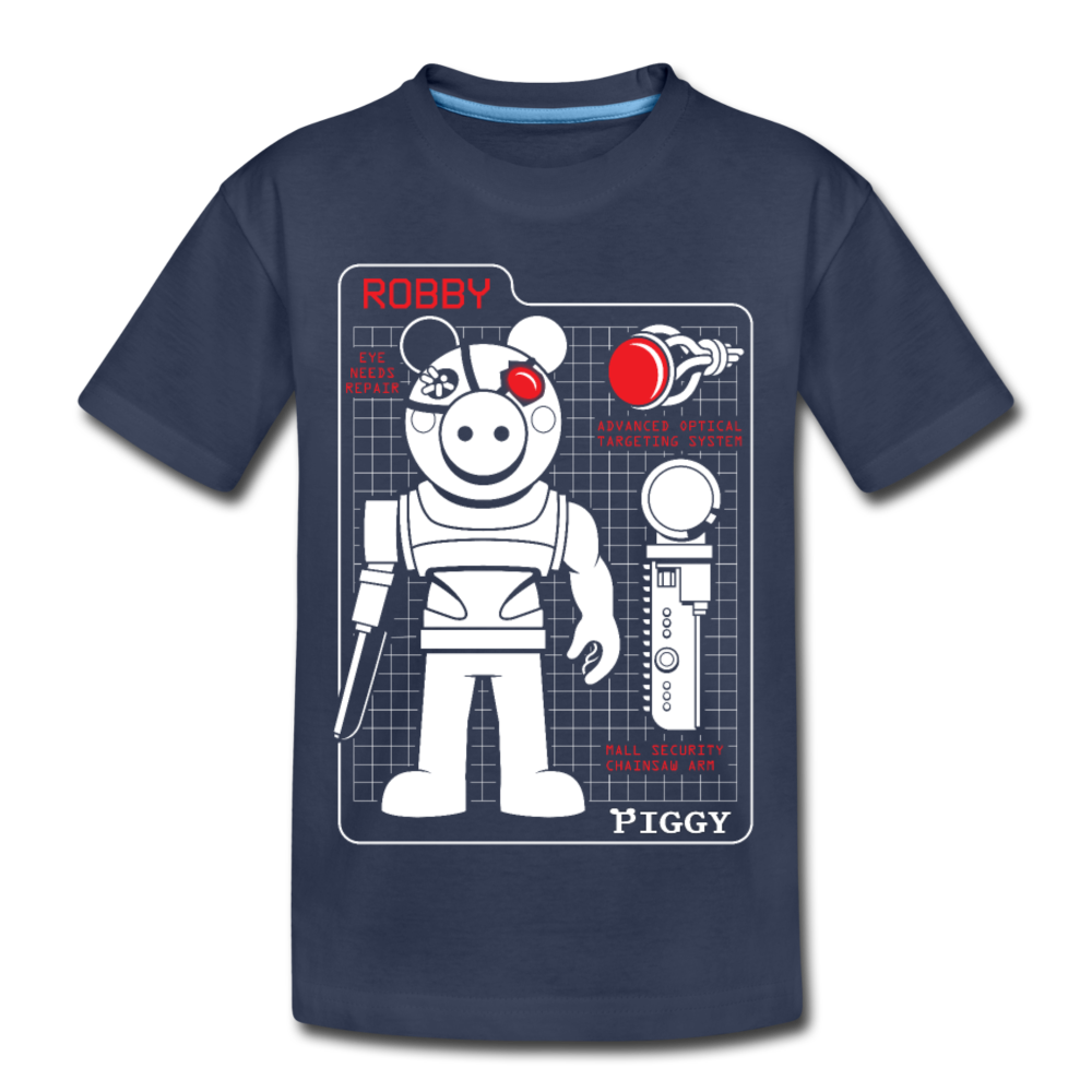 Piggy Blueprint T-Shirt - navy