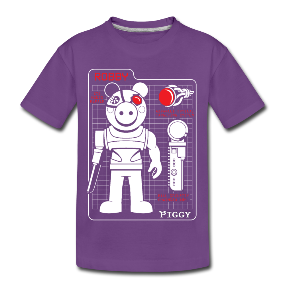 Piggy Blueprint T-Shirt - purple