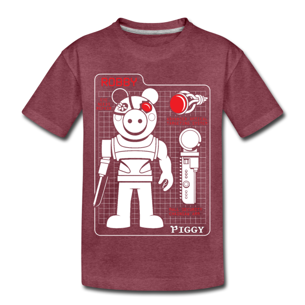 Piggy Blueprint T-Shirt - heather burgundy