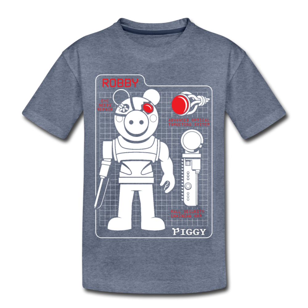 Piggy Blueprint T-Shirt - heather blue