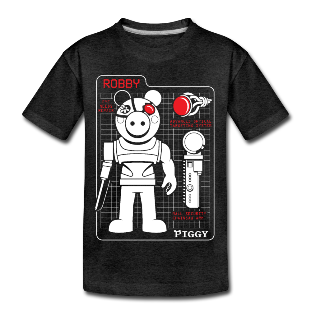 Piggy Blueprint T-Shirt - charcoal gray