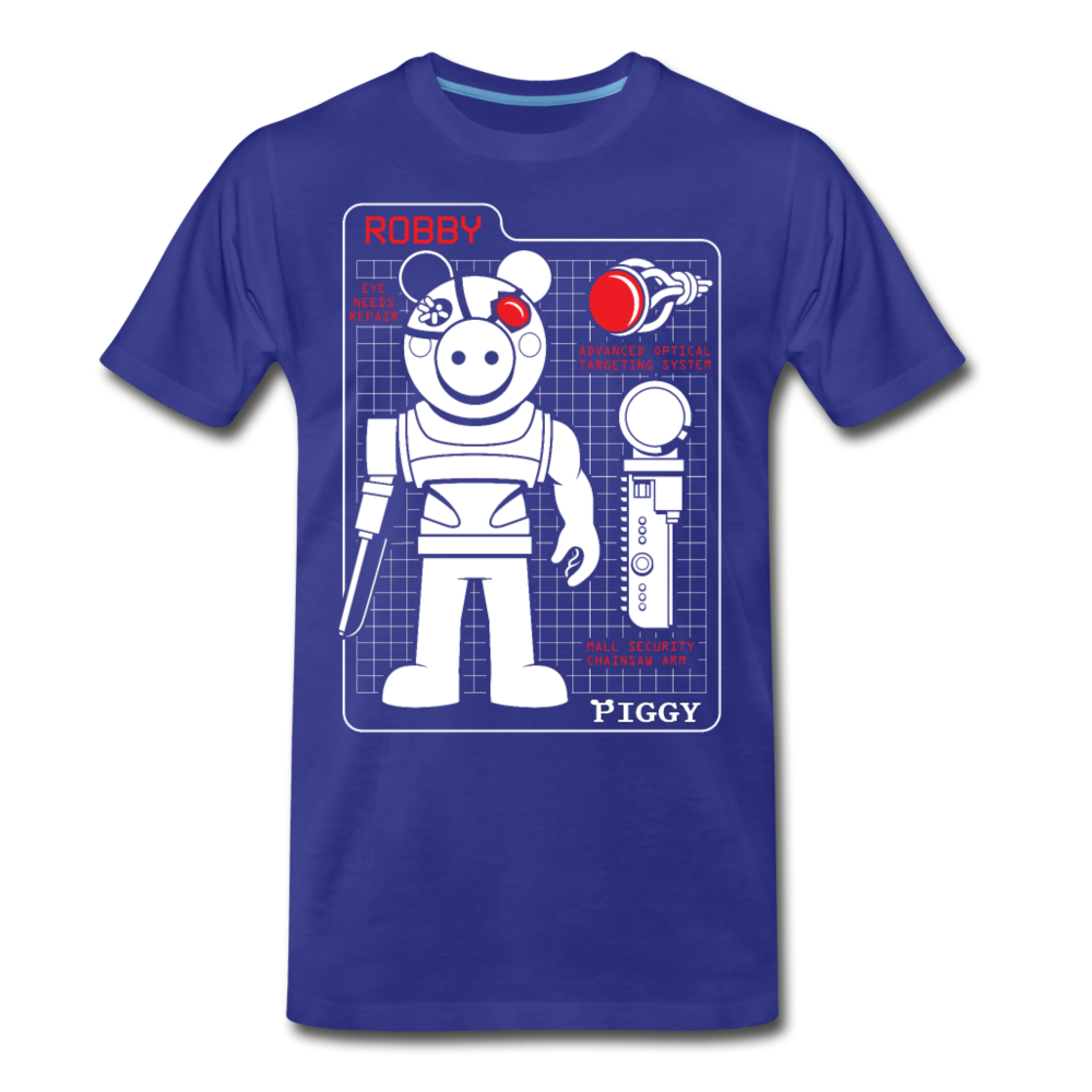 Piggy Blueprint T-Shirt (Mens) - royal blue