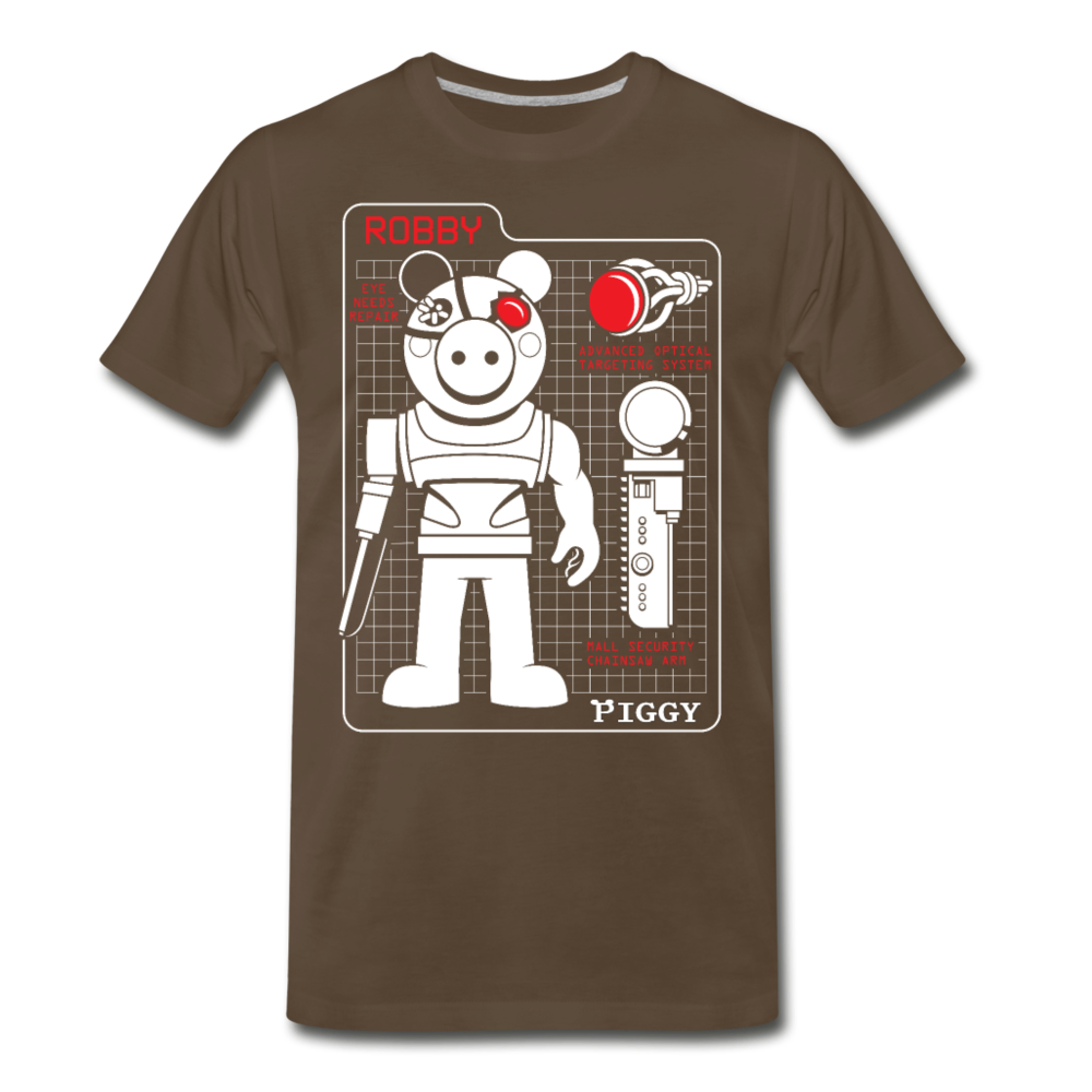 Piggy Blueprint T-Shirt (Mens) - noble brown