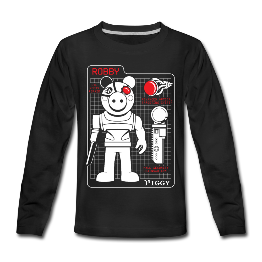 Piggy Blueprint Long-Sleeve T-Shirt - black