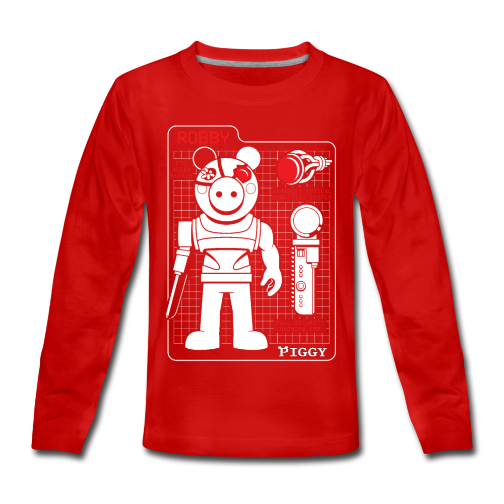 Piggy Blueprint Long-Sleeve T-Shirt - red