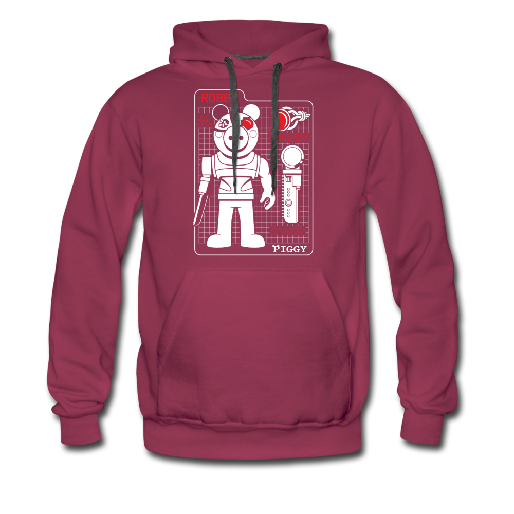Piggy Blueprint Hoodie (Mens) - burgundy