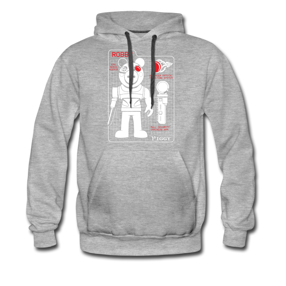 Piggy Blueprint Hoodie (Mens) - heather gray
