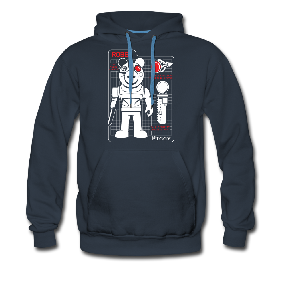 Piggy Blueprint Hoodie (Mens) - navy