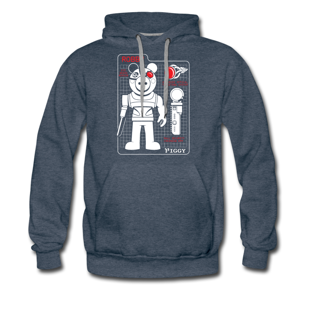 Piggy Blueprint Hoodie (Mens) - heather denim