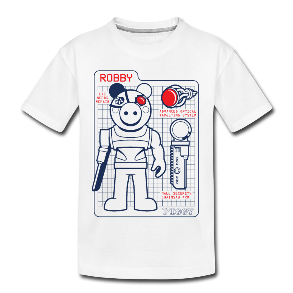 Piggy Blueprint (Dark) T-Shirt - white