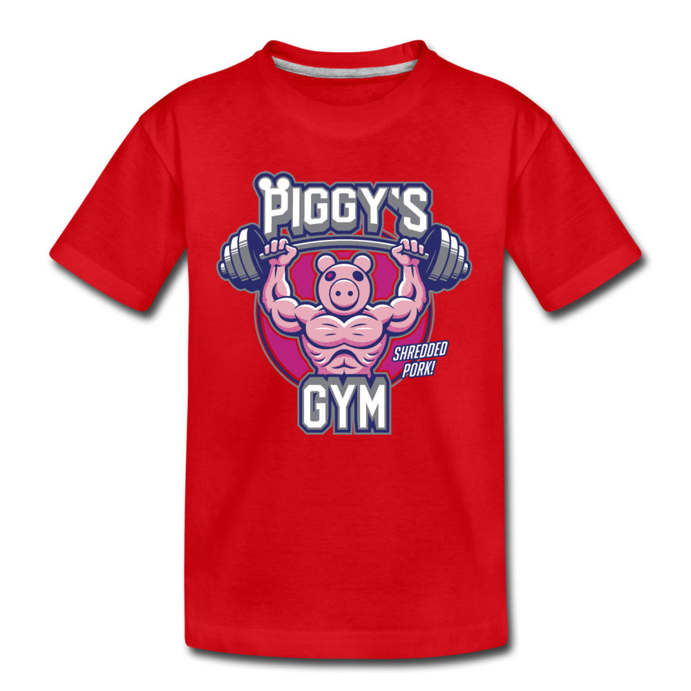 Piggy's Gym T-Shirt - red
