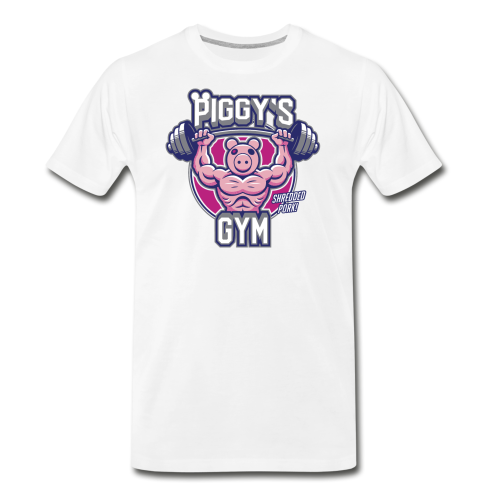 Piggy's Gym T-Shirt (Mens) - white