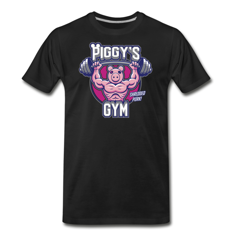 Piggy's Gym T-Shirt (Mens) - black