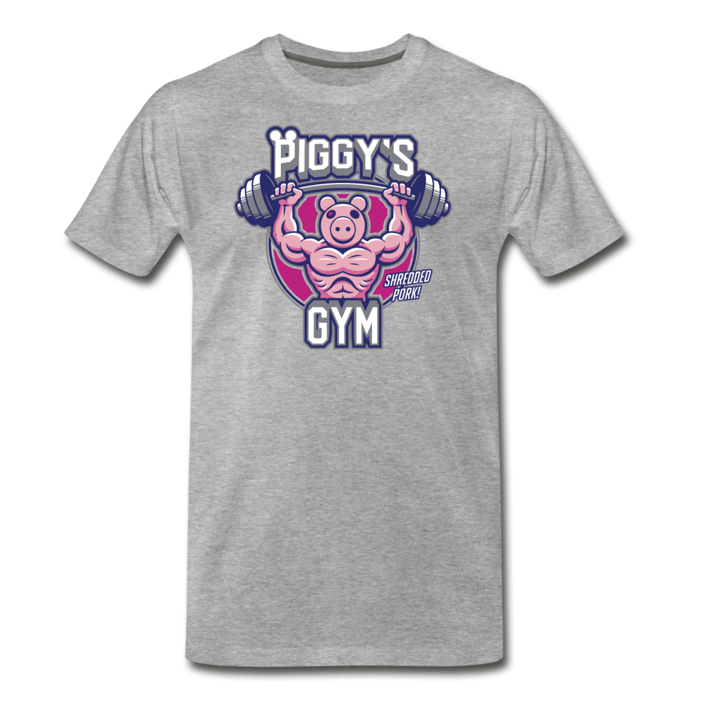 Piggy's Gym T-Shirt (Mens) - heather gray