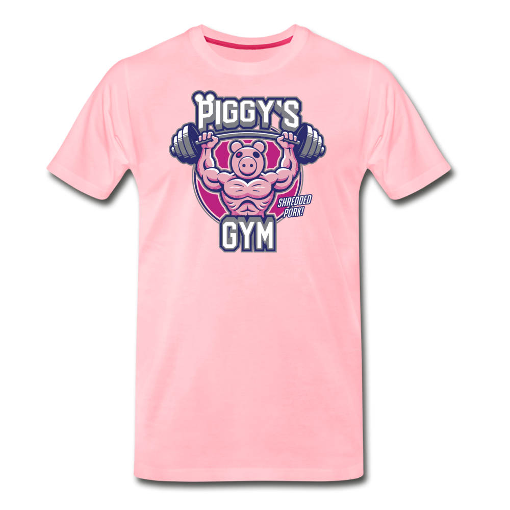 Piggy's Gym T-Shirt (Mens) - pink