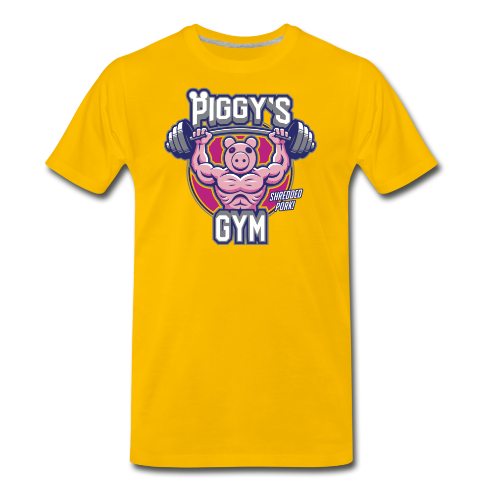 Piggy's Gym T-Shirt (Mens) - sun yellow