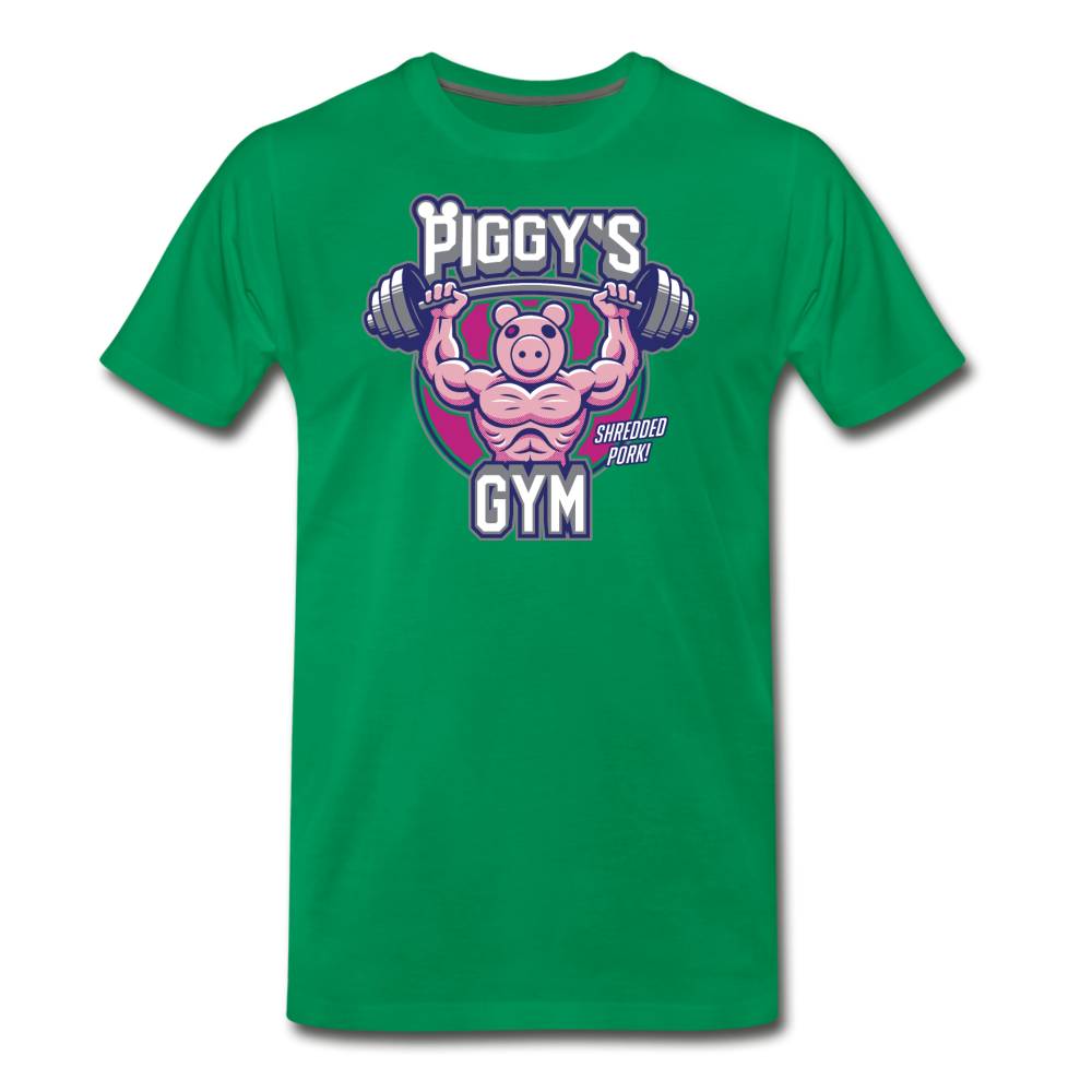 Piggy's Gym T-Shirt (Mens) - kelly green