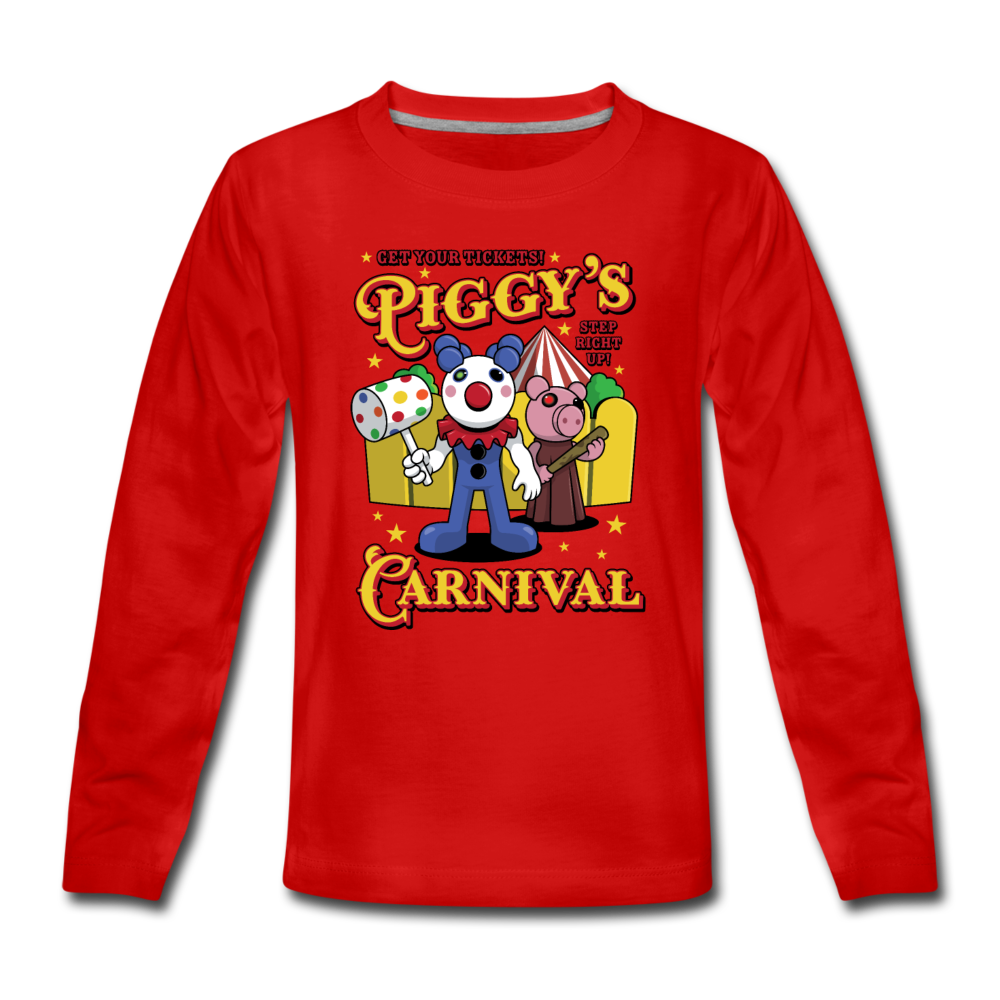Piggy's Carnival Long Sleeve T-Shirt - red