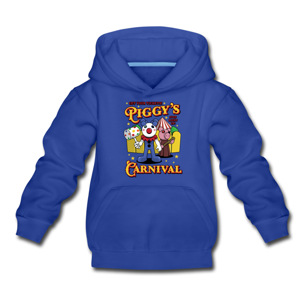 Piggy's Carnival Hoodie - royal blue