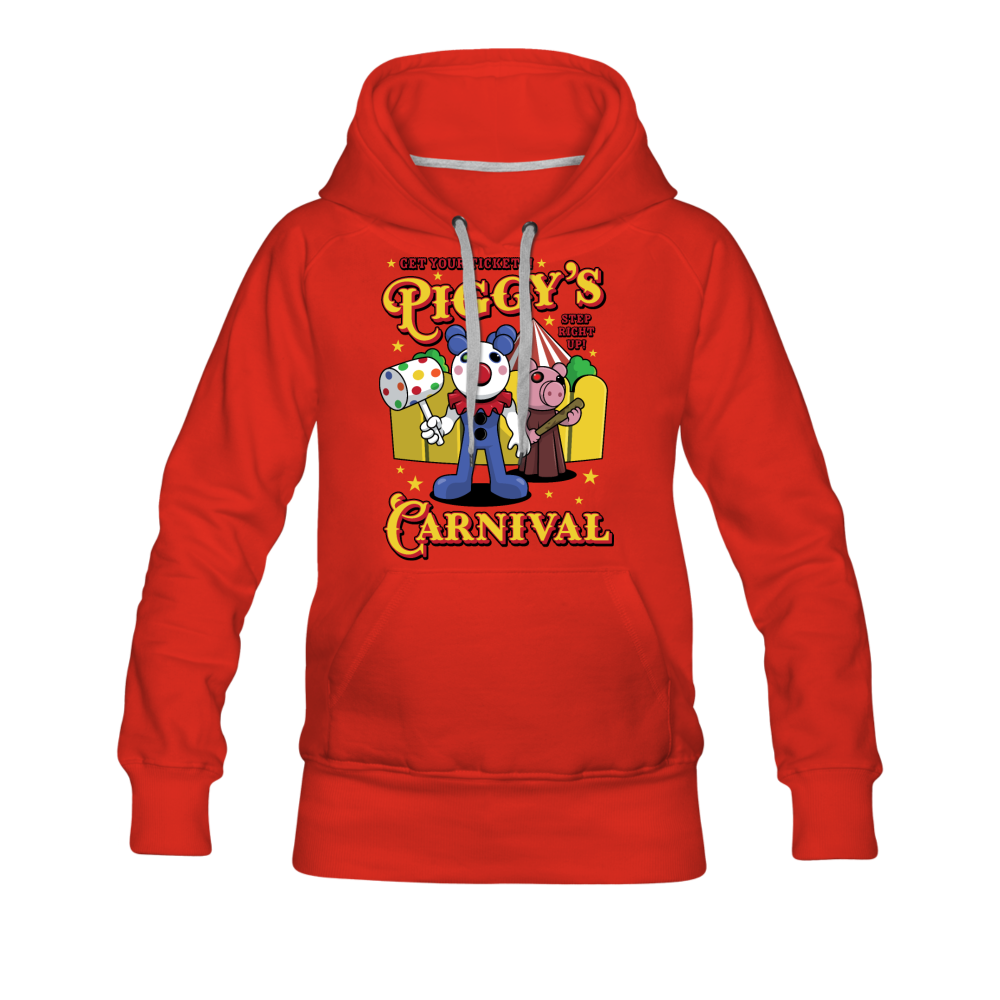 Piggy's Carnival Hoodie (Womens) - red