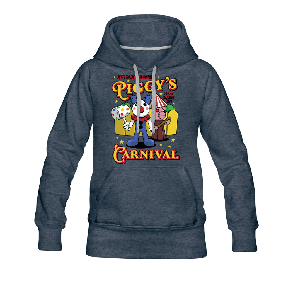 Piggy's Carnival Hoodie (Womens) - heather denim